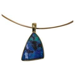 Black Opal 18 Karat Pendant, 20th Century