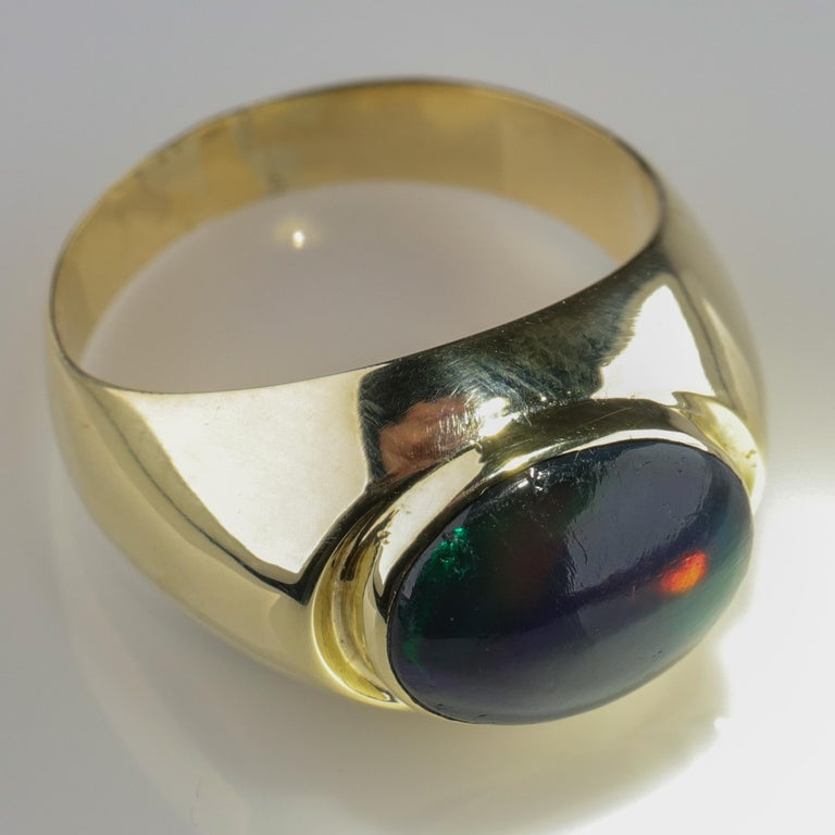 Black Opal Ring from Lightning Ridge is Understated Until It's Not For Sale 7