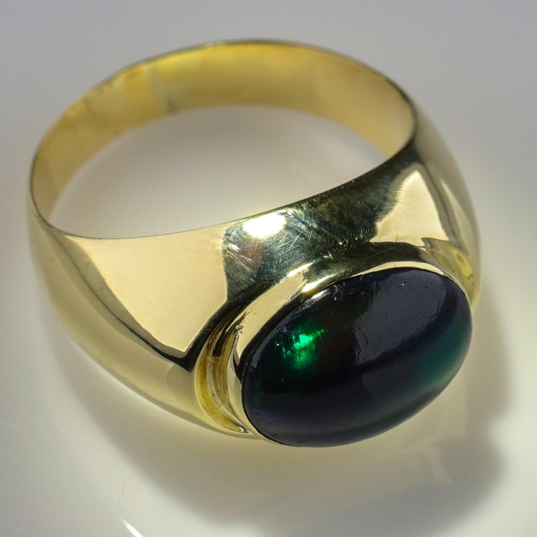 Black Opal Ring from Lightning Ridge is Understated Until It's Not For Sale 8