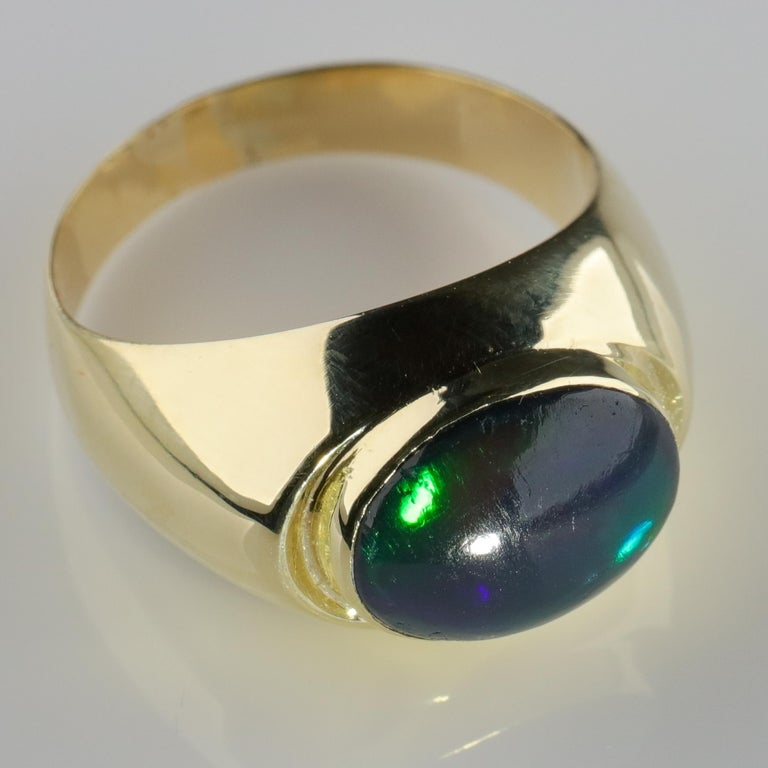 Black Opal Ring from Lightning Ridge is Understated Until It's Not For Sale 9