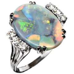 Black Opal Ring Midcentury Carl D Lindstrom & Sons