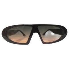 Black orange and green lens sunglasses NWOT
