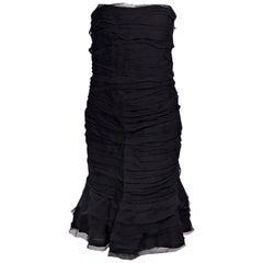 Oscar de la Renta Black 2009 Silk Strapless Dress