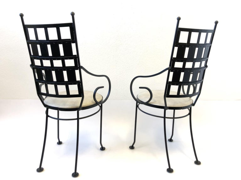 Mid-Century Modern Black Outdoor Patio Set by Arthur Umanoff For Sale