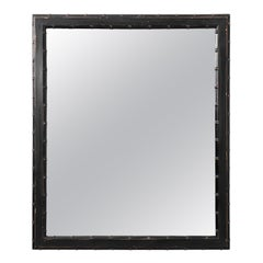 Black Painted Faux Bamboo Mirror
