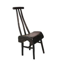 Black Painted Wood Chair