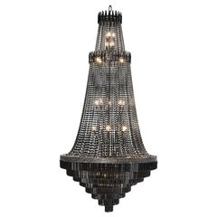 Black Palace Chandelier with Bronze Structure in Black Finish