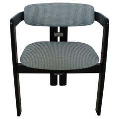 """Black """"Pamplona"""" Chair by Augusto Savini for Pozzi, Italy, 1965"""