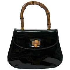 Black Patent Gucciesque Handbag