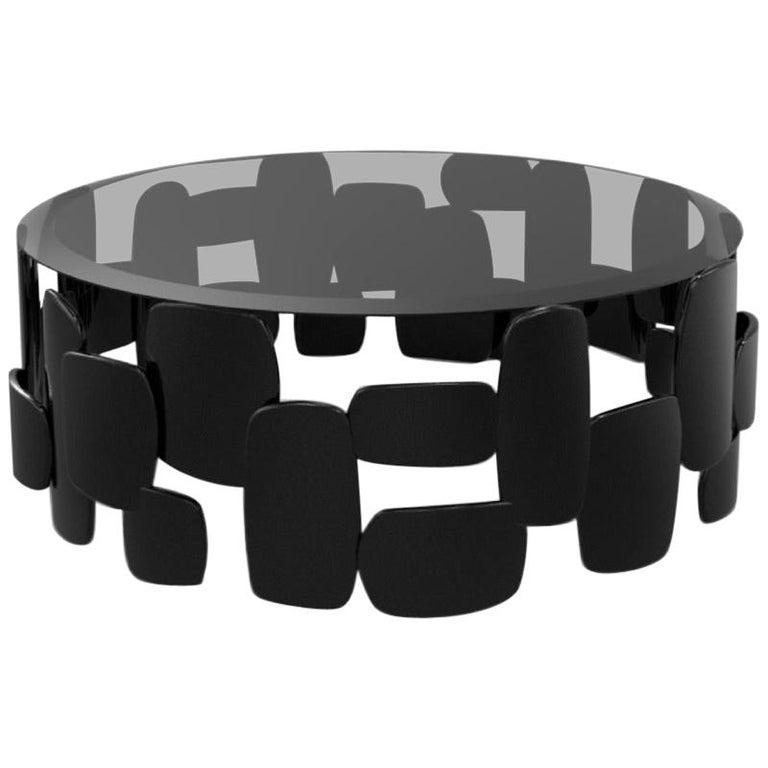 Black Pebb Coffee Table For Sale