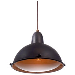 Black Pendants with Domed Glass