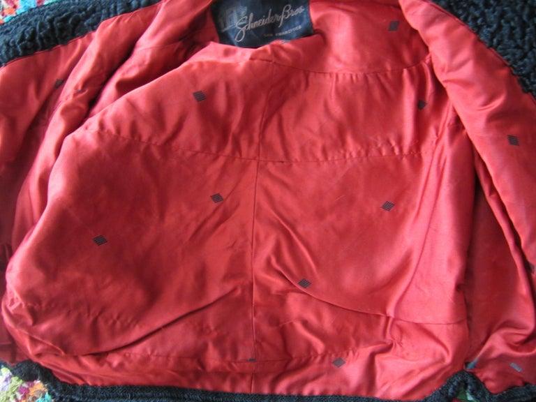Black Persian Lamb Astrakan FUR Bolero Jacket  For Sale 6