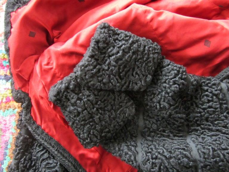 Black Persian Lamb Astrakan FUR Bolero Jacket  For Sale 2