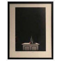 Black, Pink & White Signed No'd Mario Avanti Mezzotint 2/11, Le Dessus de Marbre