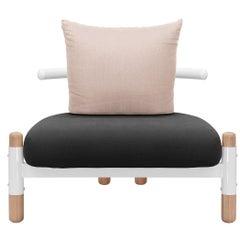 Black PK15 Single Seat Sofa, Carbon Steel Structure & Wood Legs by Paulo Kobylka