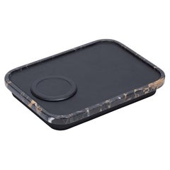 Black Polo Charging Station with Portoro Marble