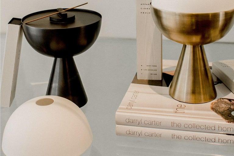 American Black Porcelain Incense Burner Candleholder For Sale