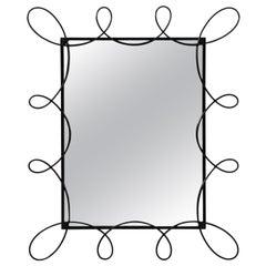Black Powder Coated Scroll Mirror