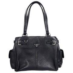 Black Prada Leather Shoulder Bag