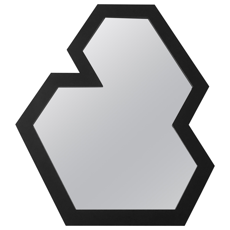 Black Present Perimeter Small Mirror No.18 by Designer Jonathan Nesci