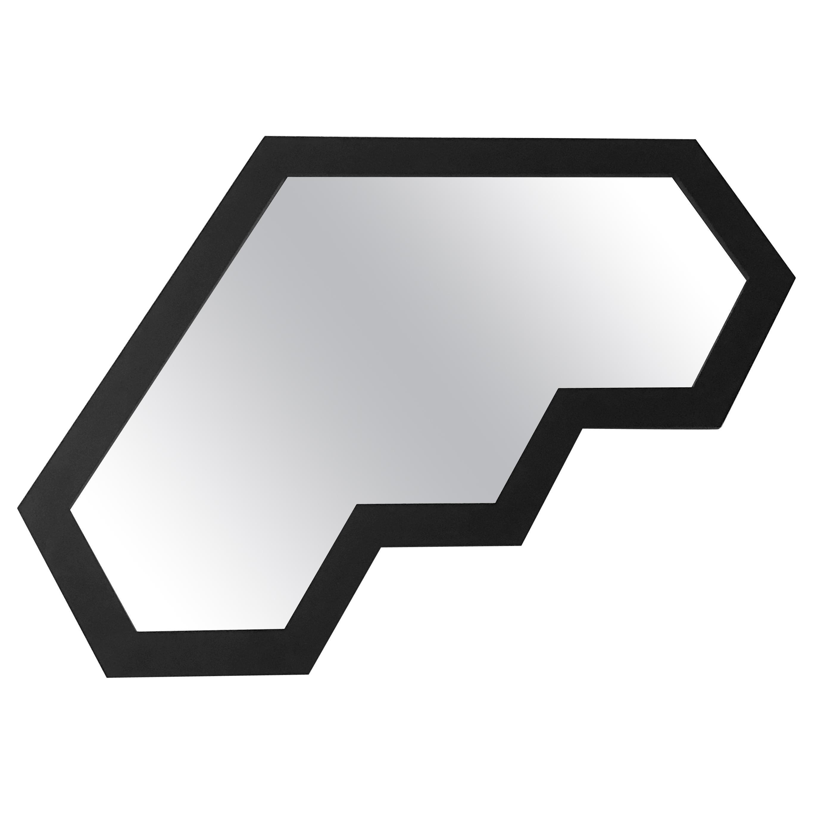 Black Present Perimeter Small Mirror No.26 by Designer Jonathan Nesci