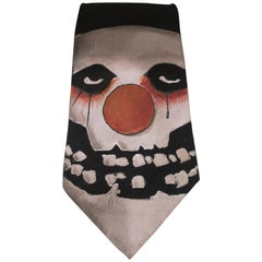 Black psyclown handmade tie