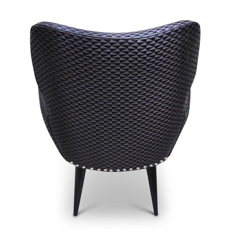 Mid-Century Modern Black Raffia Chair For Sale