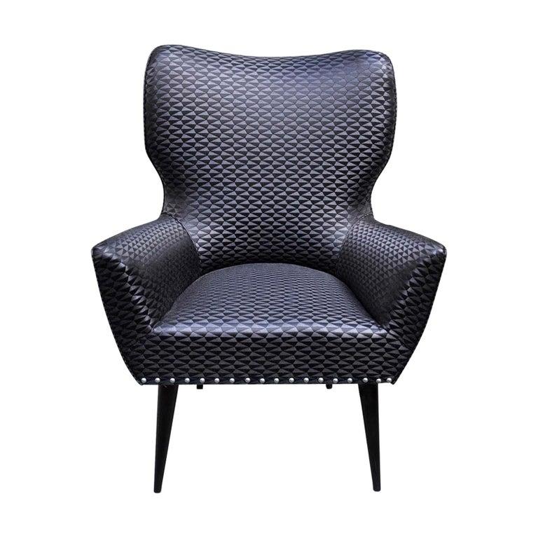 Black Raffia Chair For Sale