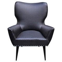 Black Raffia Chair