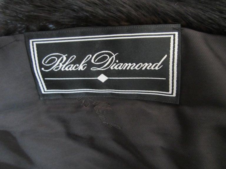 Black Ranch Mink Full Swing Coat 12-14  Retail 8,000+ Authentic Black Diamond For Sale 7