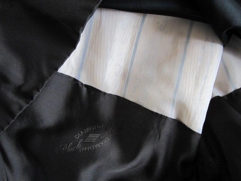 Black Ranch Mink Full Swing Coat 12-14  Retail 8,000+ Authentic Black Diamond For Sale 9