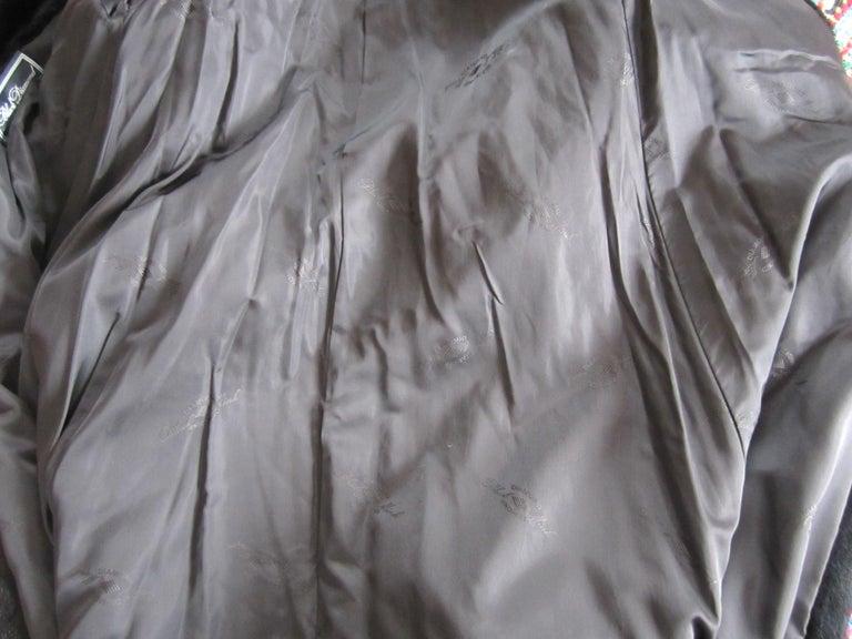 Black Ranch Mink Full Swing Coat 12-14  Retail 8,000+ Authentic Black Diamond For Sale 10