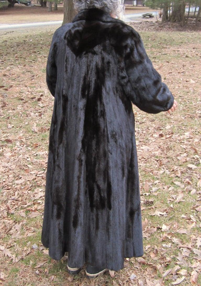 Black Ranch Mink Full Swing Coat 12 14 Retail 8 000