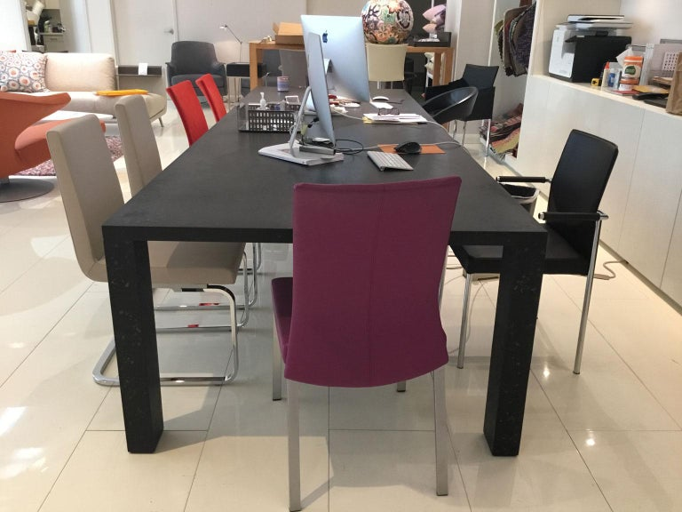 Modern Black Rectangular Dining or Conference Table by De Sede For Sale