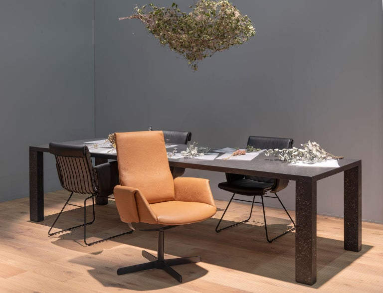 Black Rectangular Dining or Conference Table by De Sede For Sale 2