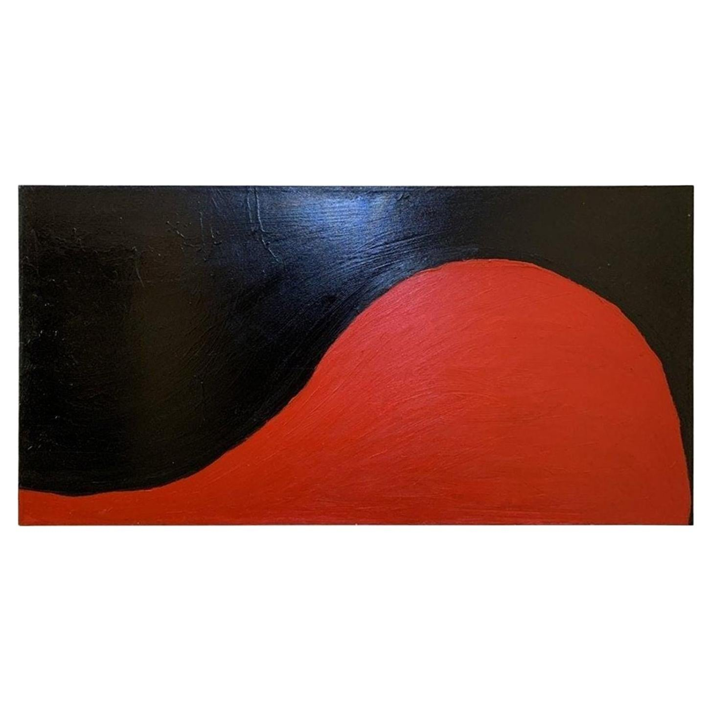 """""""Black & Red"""" Oil on Canvas"""
