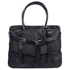 Black Reed Krakoff Leather Boxer Tote Bag