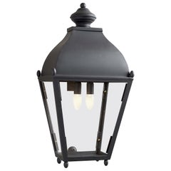 Black Reggio Porch Light
