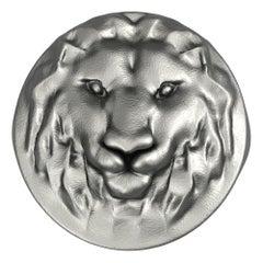Black Rhodium Lion Signet Ring