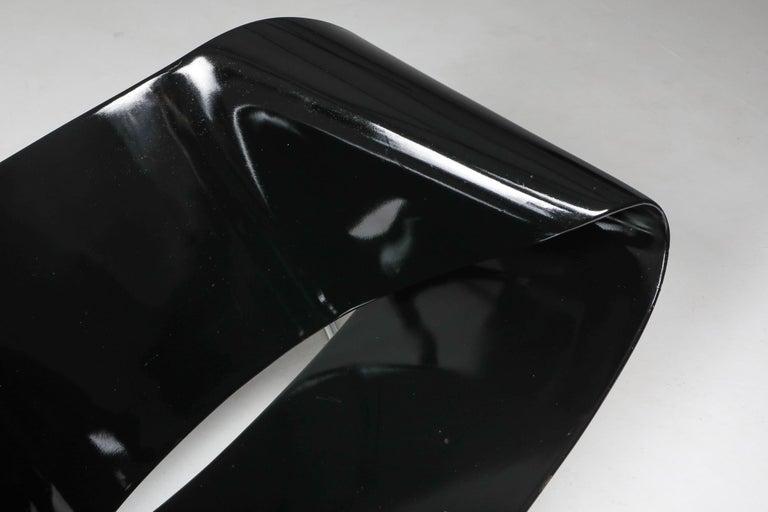 Black Ribbon Chair by Franca Stagi for Bernini, 1961 For Sale 5