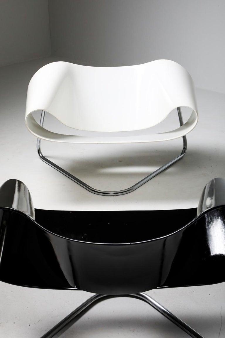 Black Ribbon Chair by Franca Stagi for Bernini, 1961 For Sale 6