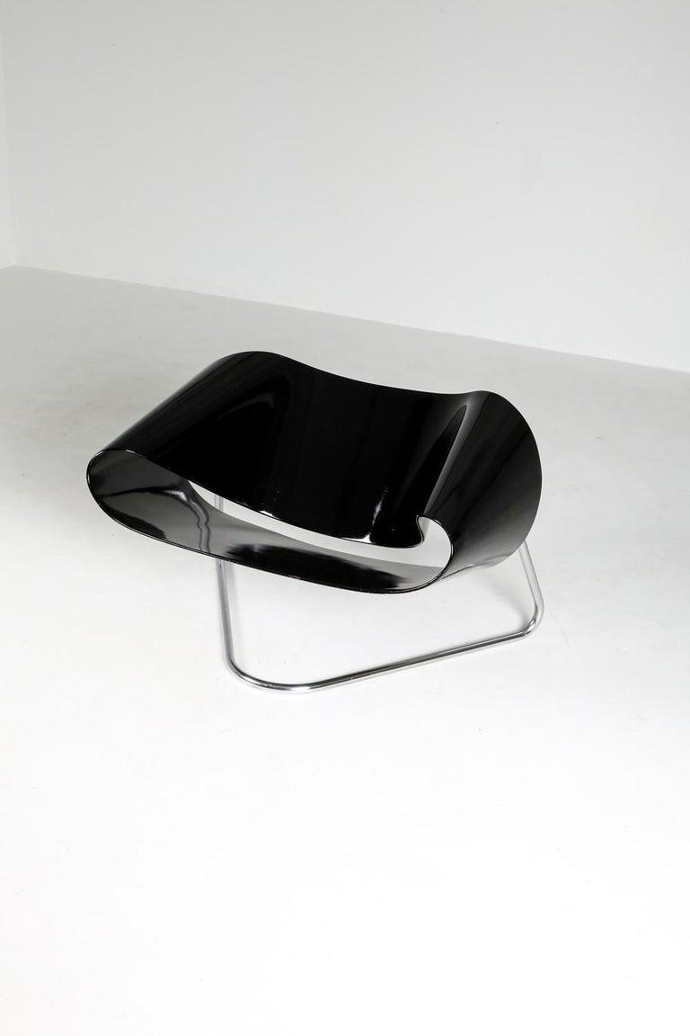 Black Ribbon Chair by Franca Stagi for Bernini, 1961 For Sale 7