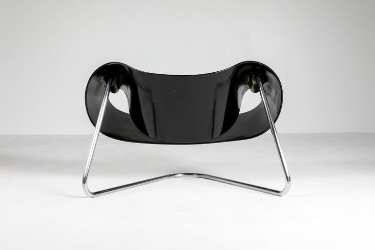 Black Ribbon Chair by Franca Stagi for Bernini, 1961 In Good Condition For Sale In Antwerp, BE