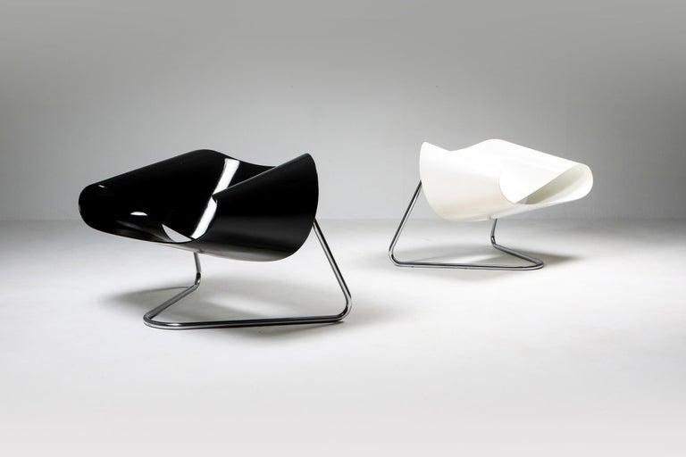 Black Ribbon Chair by Franca Stagi for Bernini, 1961 For Sale 1