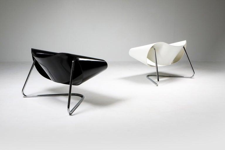 Black Ribbon Chair by Franca Stagi for Bernini, 1961 For Sale 2