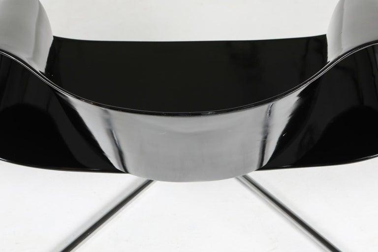 Black Ribbon Chair by Franca Stagi for Bernini, 1961 For Sale 3