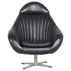 Black Rohe Noordwolde Egg Chair, 1960s