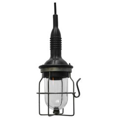 Black Rubber Vintage Industrial Clear Glass Pendant lights