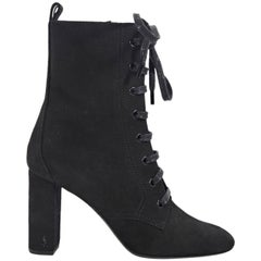 Black Saint Laurent Suede Ankle Boots