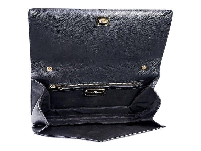 Women's Salvatore Ferragamo Black Saffiano Leather Miss Vara Bag For Sale